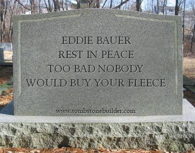 eddie bauer tombstone