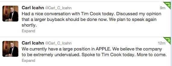 icahn tweets