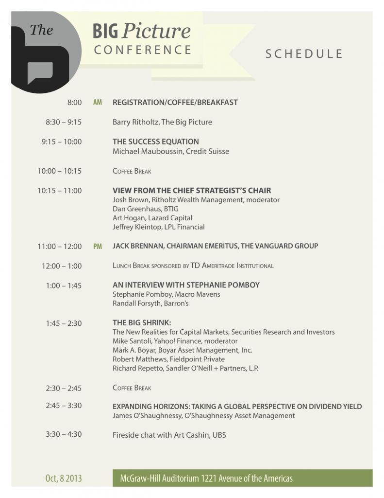 big picture conference agenda