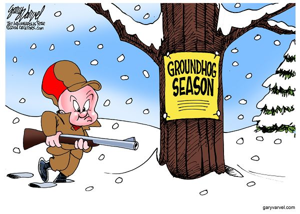 Cartoonist Gary Varvel: Should we blame the groundhog for this w