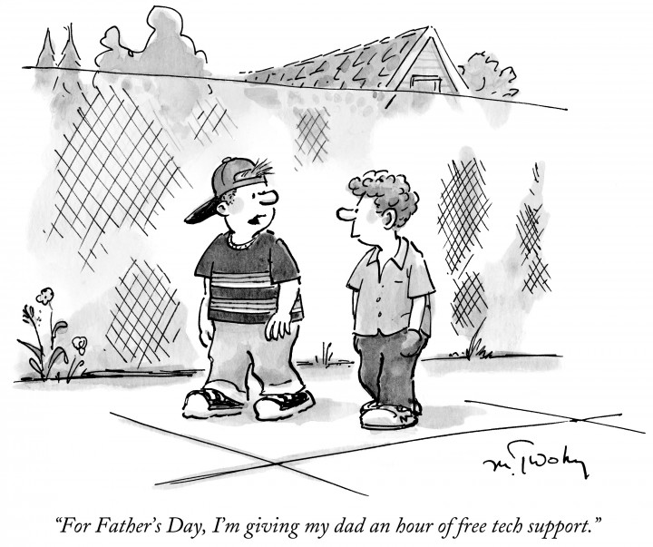 """For Father's Day, I'm giving my dad an hour of free tech support."""