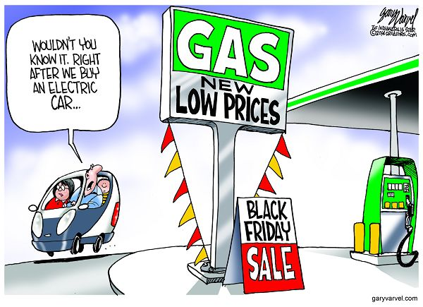 Cartoonist Gary Varvel: Low Gas Prices