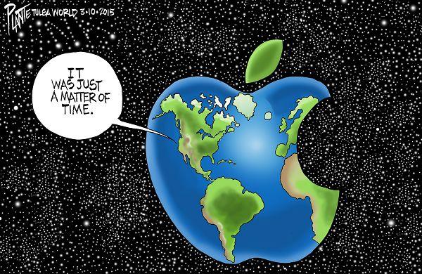 Bruce Plante Cartoon: Apple World